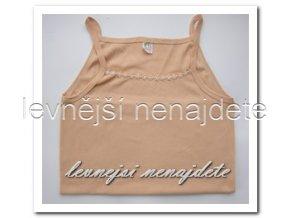 Dámská bavlněná košilka s ramínky tělová