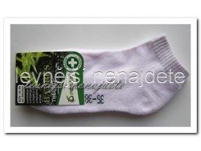 Dámské bambusové terno kotníkové ponožky bílé