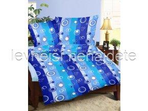 Krepové povlečení  - Bublina modrá 140 x 200 70 x 90