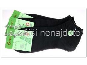 Pánské zdravotní kotníkové ponožky černé 3 páry
