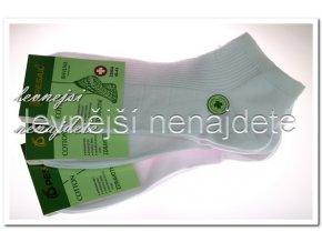 Pánské zdravotní kotníkové ponožky bílé 3 páry