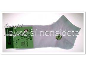 Pánské zdravotní kotníkové ponožky bílé