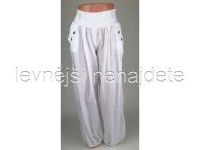 Dámské bavlněné kalhoty bílé