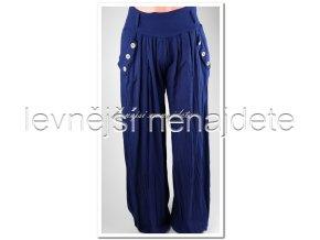 Dámské bavlněné kalhoty modré