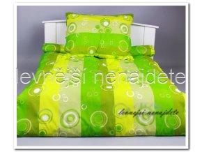 Bavlněné povlečení 2 kusy- Bublina zelená 2 x 140 x 200 2x 70 x 90
