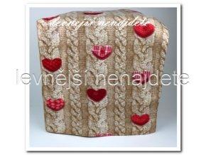 Fleecová deka - srdíčka 150 x 200