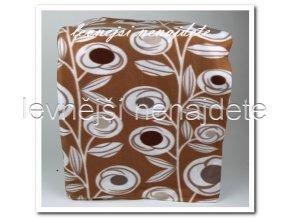 Fleecová deka - kytka 150 x 200