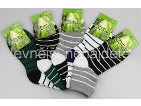 Dámské bambusové ponožky proužek 5 kusů