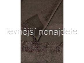 KAŠMÍROVÁ ŠÁLA ČOKOLÁDOVÁ 185 x 70 cm