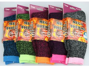 Dámské termo ponožky barevné