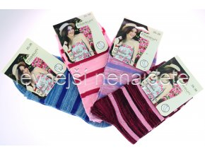 Dámské bavlněné ponožky proužek 3 páry