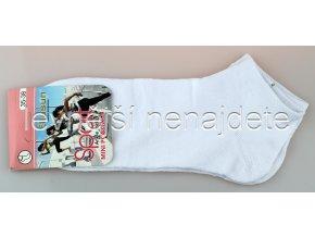 Dámské bavlněné kotníkové ponožky bílé