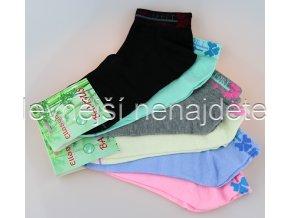 Dámské bambusové kotníkové ponožky barevné 3 páry