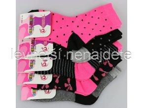 Dívčí bavlněné ponožky  3 páry