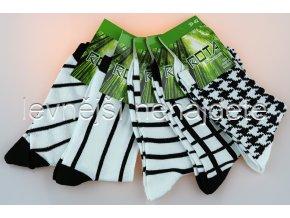 Dámské bambusové ponožky čer 5 kusů