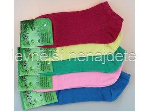 Dámské bambusové kotníkové ponožky bare 3 páry
