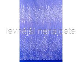 Voálová záclona s výšivkou MARGARITA 180 cm