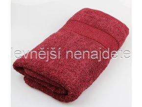 Froté ručník vínový 40 x 90 cm