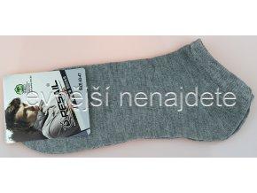 Pánské kotníkové ponožky šedé