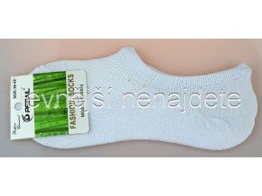 Bambusové dámské krátké ponožky bílé