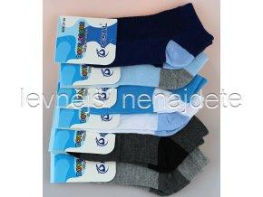 Chlapecké bavlněné kotníkové ponožky bar 3 páry