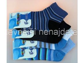 Chlapecké bavlněné kotníkové ponožky vzor 3 páry