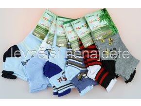 Chlapecké kotníkové bambusové ponožky 3 páry