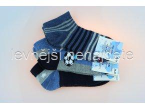 Chlapecké bavlněné kotníkové ponožky ZT 3 páry