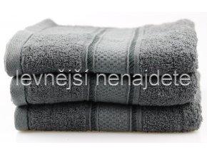 Froté ručník tmavě šedý 46 x 95 cm