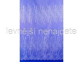 Voálová záclona s výšivkou MARGARITA 160 cm