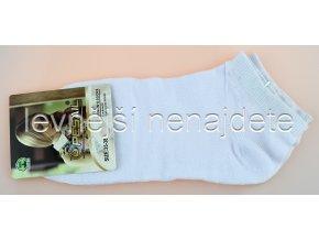 Dámské kotníkové ponožky bílé