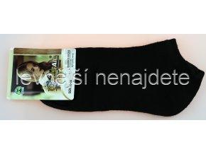 Dámské kotníkové ponožky černé