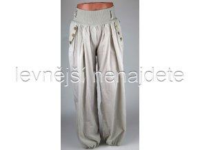 Dámské bavlněné kalhoty béžové