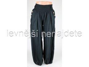Dámské bavlněné kalhoty černé