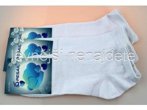 Pánské kotníkové ponožky bílé 3 páry