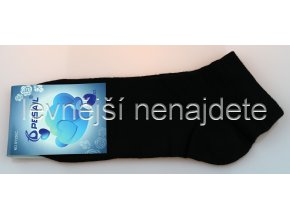 Pánské bavlněné kotníkové ponožky černé