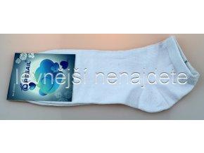 Pánské bavlněné kotníkové ponožky bílé