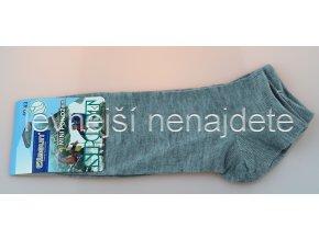 Pánské kotníkové bavlněné ponožky šedé