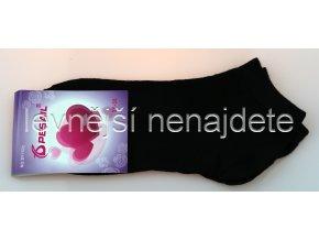 Dámské kotníkové bavlněné ponožky černé