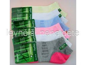 Dámské bambusové zdravotní kotníkové ponožky WX 3 páry
