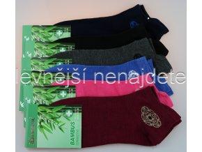 Dámské bambusové zdravotní kotníkové ponožky XW 3 páry