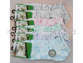 Dámské bavlněné kotníkové ponožky melír