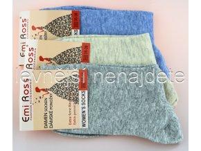 extra jemné bavlněné ponožky melír 3 páry