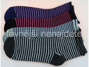 Dámské zdravotní ponožky proužek 3 páry
