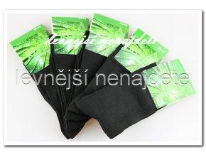 Dámské bambusové ponožky černé 5 kusů