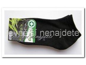 Pánské bambusové termo kotníkové ponožky černé