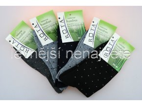 Dámské bambusové ponožky puntík 5 párů