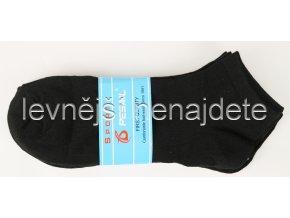 Pánské kotníkové ponožky černé 3 páry (sport)