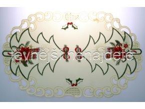 Vánoční vyšívaný ubrus vz.6 ovál 30 x 45 cm