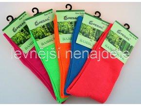 Dámské bambusové ponožky barevné